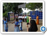 Sree Shanthi Anand Vidyalaya school students welcoming our Chief Guest