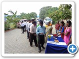 Sree Shanthi Anand Vidyalaya school staffs welcoming our Chief Guest