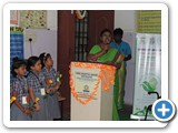 Welcome address given by Sree Shanthi Anand Vidyalaya school Coordinator