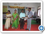 Dr. S. Janarthanan, Professor & Head, Department of Zoology, University of Madras,   issuing certificate to winners
